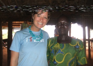 Grace - one of the Women of Hope - with me after the meeting.